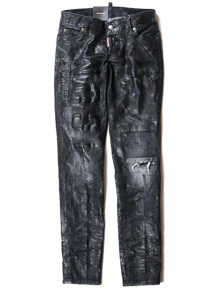 Черные джинсы с логотипом Dsquared2 фото