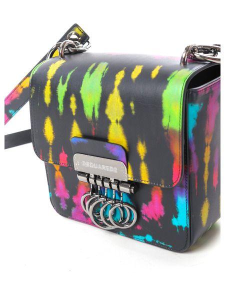 Маленькая сумка Key в стиле колор-блок