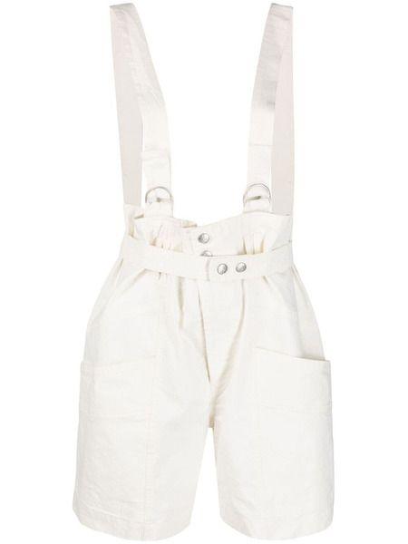 Белые шорты Effie с лямками Isabel Marant фото