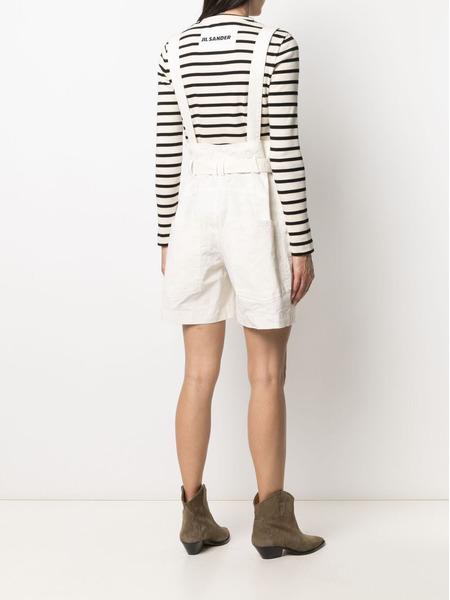 Белые шорты Effie с лямками Isabel Marant, фото