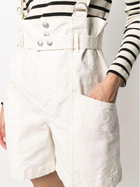 Белые шорты Effie с лямками