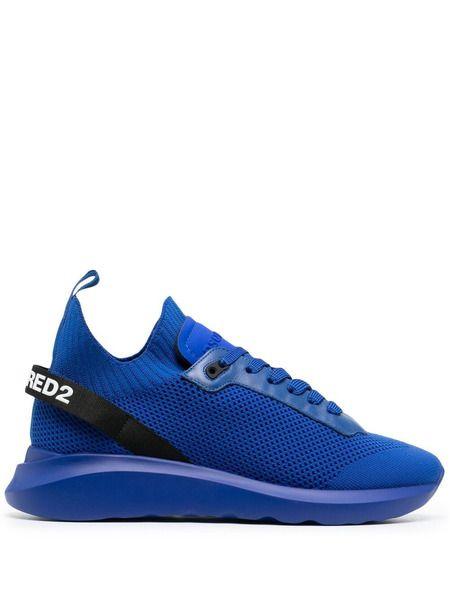Синие кроссовки на шнуровке Speedster Dsquared2 фото