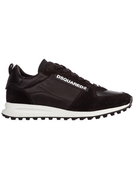 Замшевые кроссовки на шнуровке Dsquared2, фото