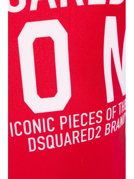 Слитный красный купальник с логотипом Dsquared2, фото