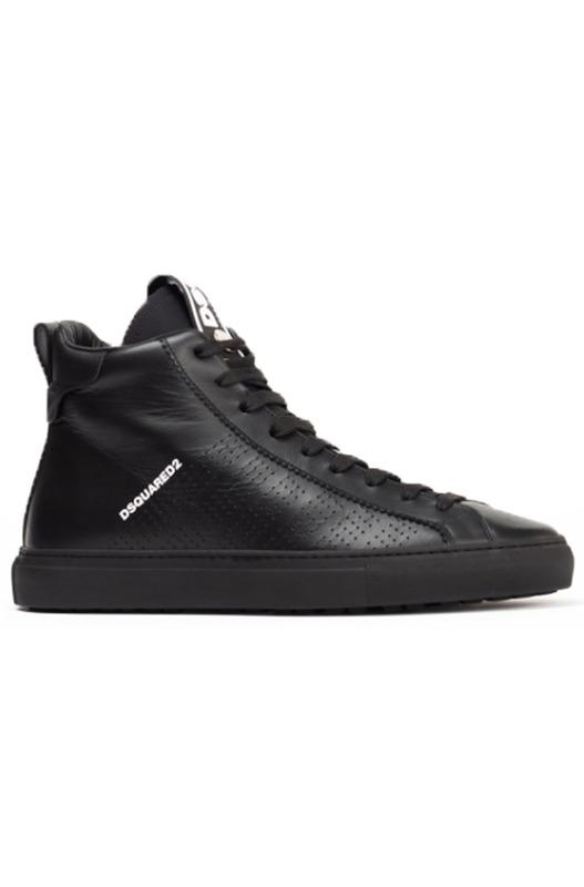 Черные высокие кроссовки с перфорацией Dsquared2, фото