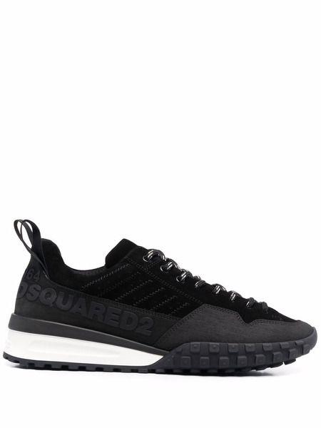 Черные кроссовки на шнуровке Dsquared2 фото