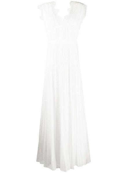 Белое платье макси с кружевными вставками Self-Portrait, фото