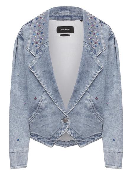 Джинсовая куртка с заклепками Isabel Marant фото