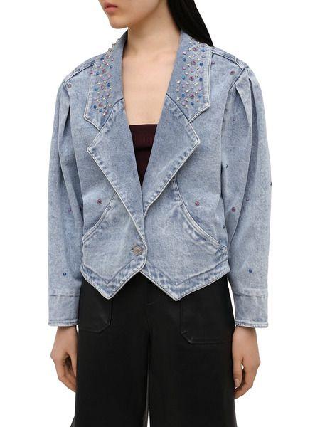 Джинсовая куртка с заклепками