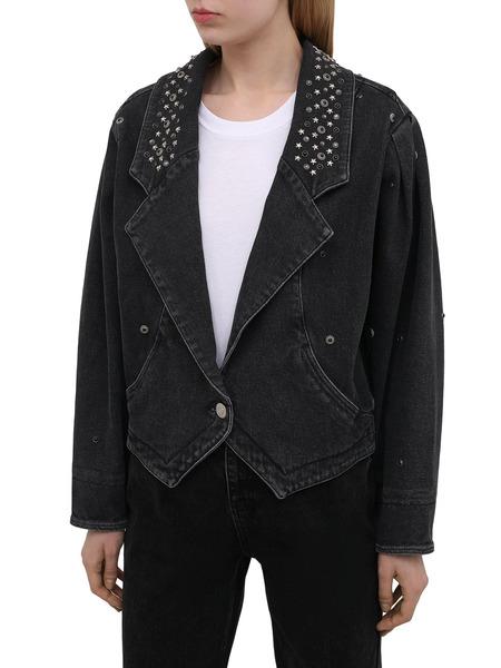 Черная джинсовая куртка с заклепками Isabel Marant, фото