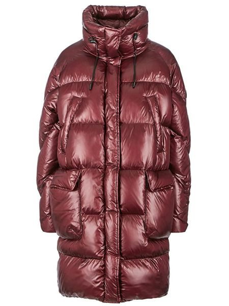 Удлиненный зимний пуховик оверсайз Woolrich фото