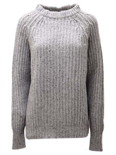 Серый твидовый свитер Woolrich фото