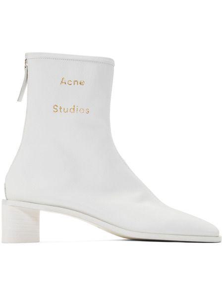 Белые ботильоны Acne Studios Bertine Acne Studios фото