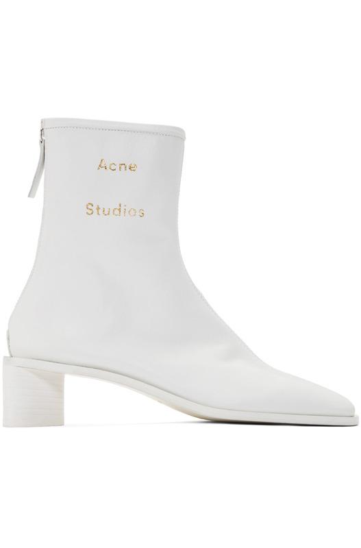 Белые ботильоны Acne Studios Bertine Acne Studios, фото