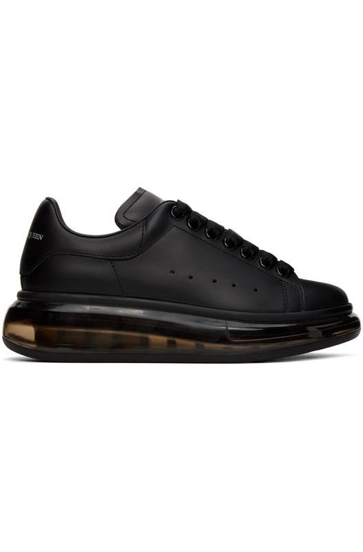 Черные кроссовки Clear Sole Oversized с прозрачной подошвой Alexander McQueen