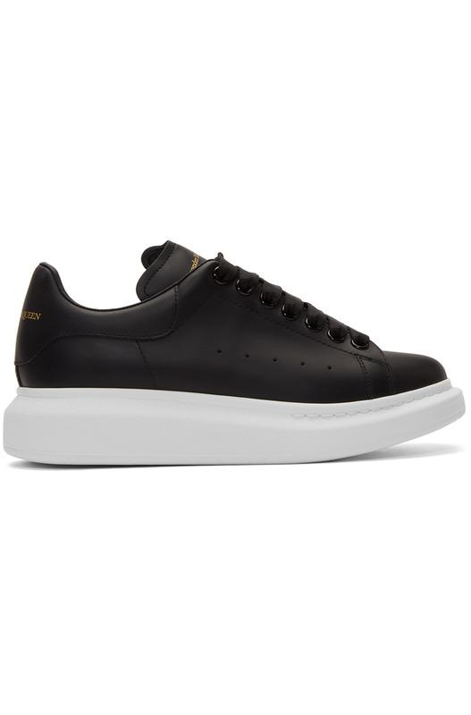 Черные кроссовки с белой подошвой Alexander McQueen