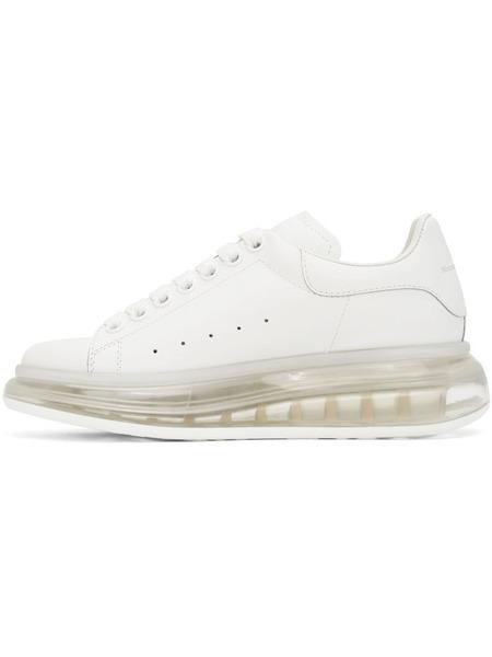 Белые кроссовки Clear Sole Oversized с прозрачной подошвой Alexander McQueen, фото