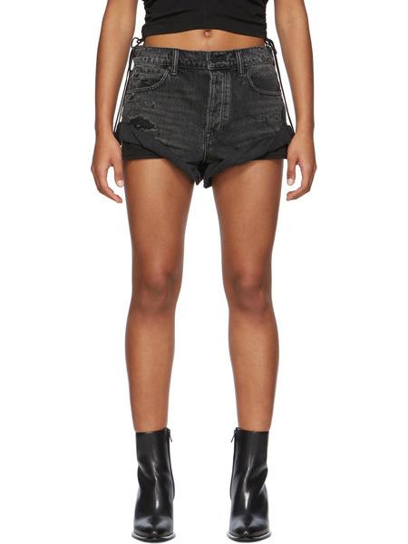 Черные короткие джинсовые шорты Hike Alexander Wang фото