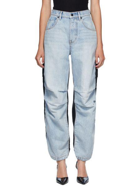 Синие с черным гибридные джинсы карго Alexander Wang фото