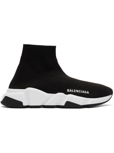 Черные с белой подошвой Balenciaga Speed Trainer Balenciaga фото