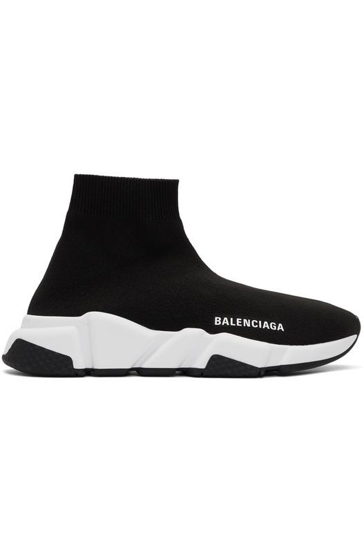Черные с белой подошвой Balenciaga Speed Trainer Balenciaga, фото