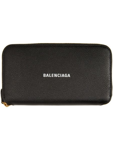 Черный кошелек с логотипом Balenciaga на молнии Balenciaga фото
