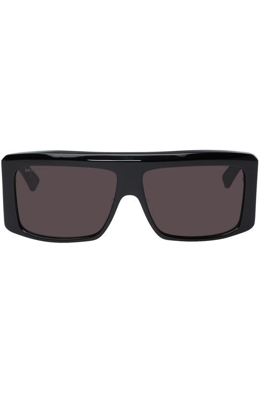 Черные солнцезащитные очки Balenciaga с плоским верхом Balenciaga, фото