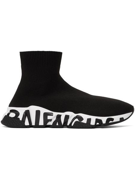 Высокие кроссовки с логотипом на подошве Speed Balenciaga фото