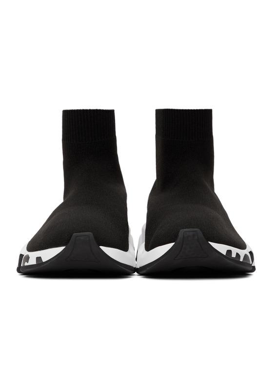 Высокие кроссовки с логотипом на подошве Speed Balenciaga