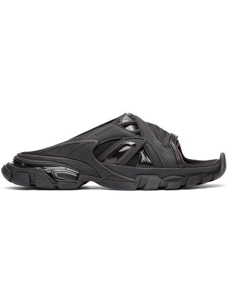 Черные сандалии Track Slide Balenciaga фото