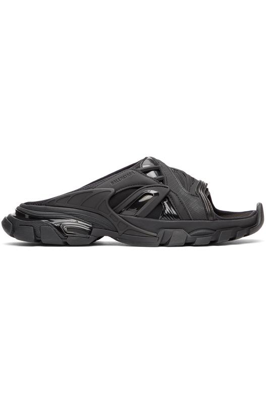 Черные сандалии Track Slide