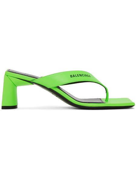 Зеленые босоножки с квадратным носком Balenciaga фото