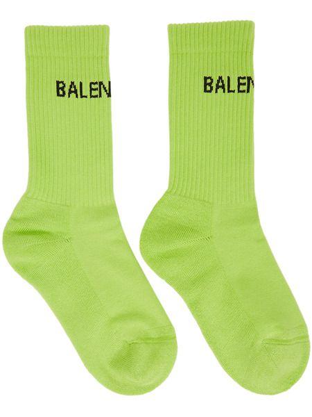 Зеленые теннисные носки Balenciaga фото
