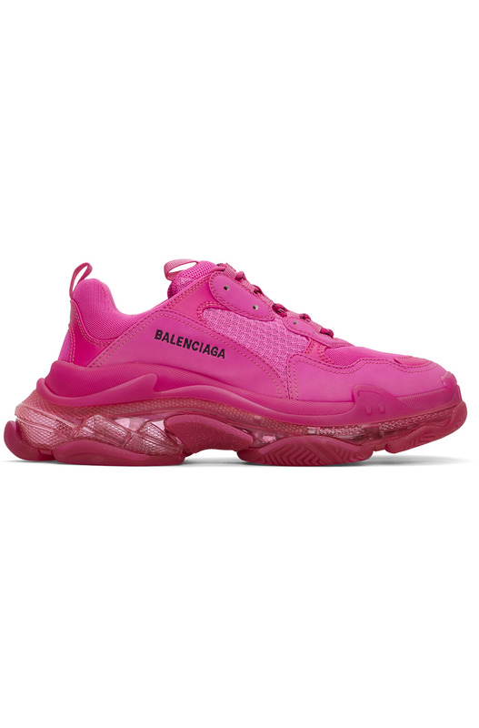 Розовые кроссовки Balenciaga Triple S Clear Sole Balenciaga