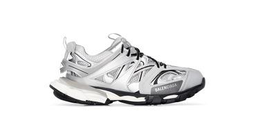 Спортивные кроссовки Balenciaga Track в серебристом цвете