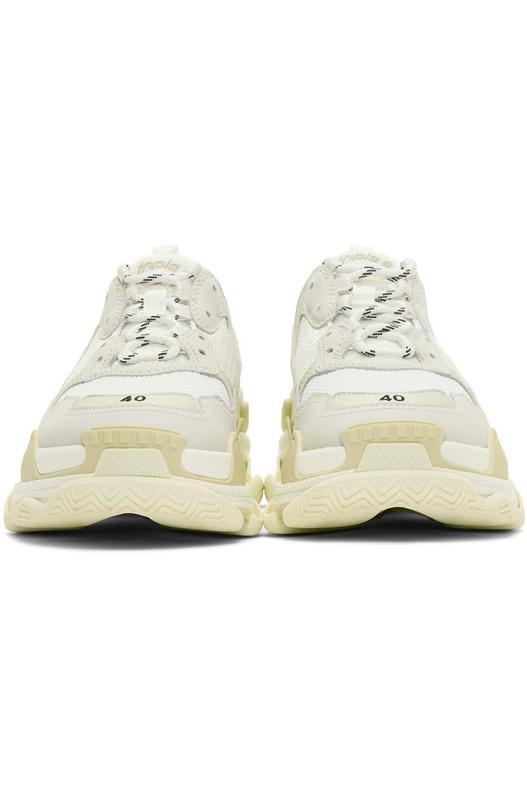 Белые кроссовки Balenciaga Triple S Balenciaga, фото
