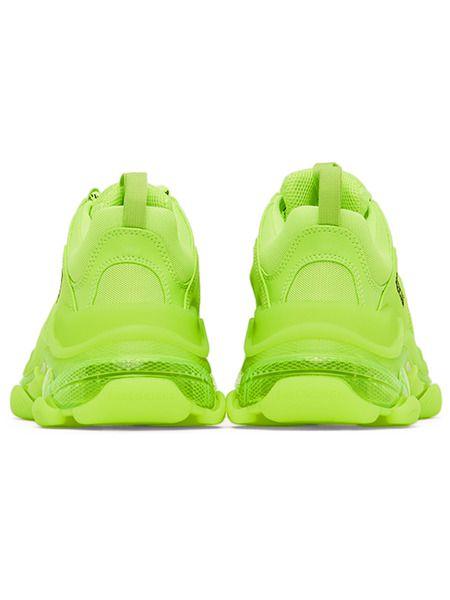 Флуоресцентно-желтые кроссовки Balenciaga Triple S Clear Sole