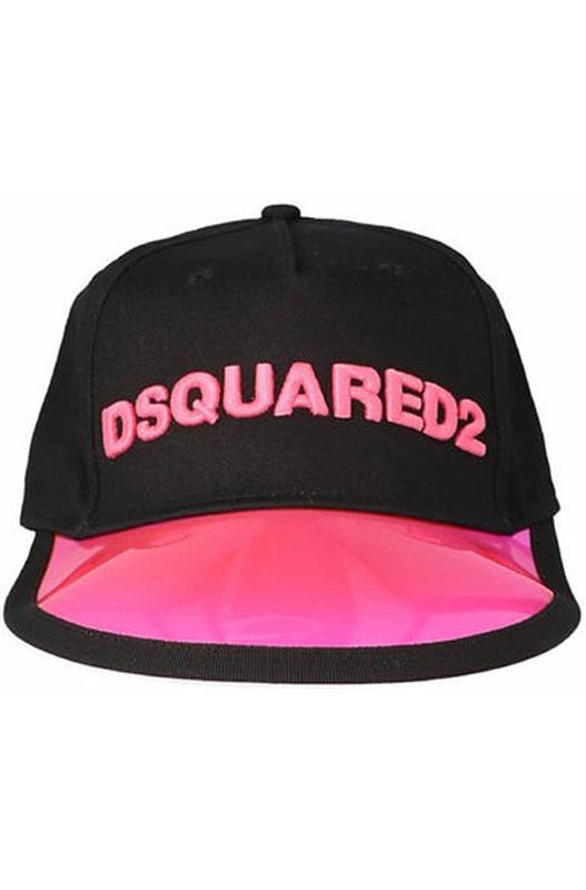 Черная кепка с логотипом розового цвета Dsquared2, фото