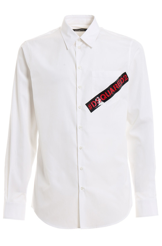 Белая рубашка с контрастным логотипом
