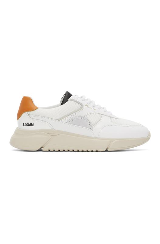 Бело-оранжевые кроссовки Genesis Triple ORANGEBLKNE Axel Arigato, фото