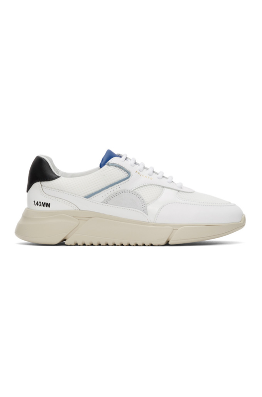 Бело-синие кроссовки Genesis Triple BLKCOBALT Axel Arigato, фото