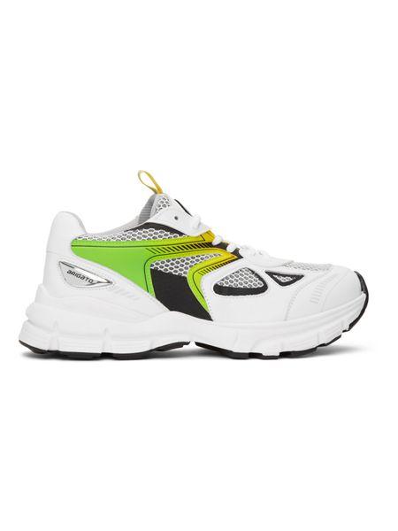 Бело-зеленые кроссовки Marathon HD Axel Arigato фото