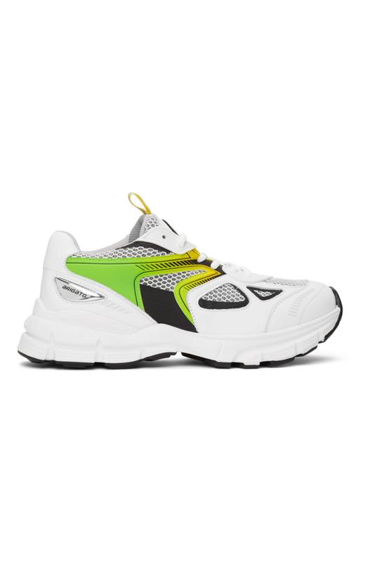 Бело-зеленые кроссовки Marathon HD Axel Arigato, фото