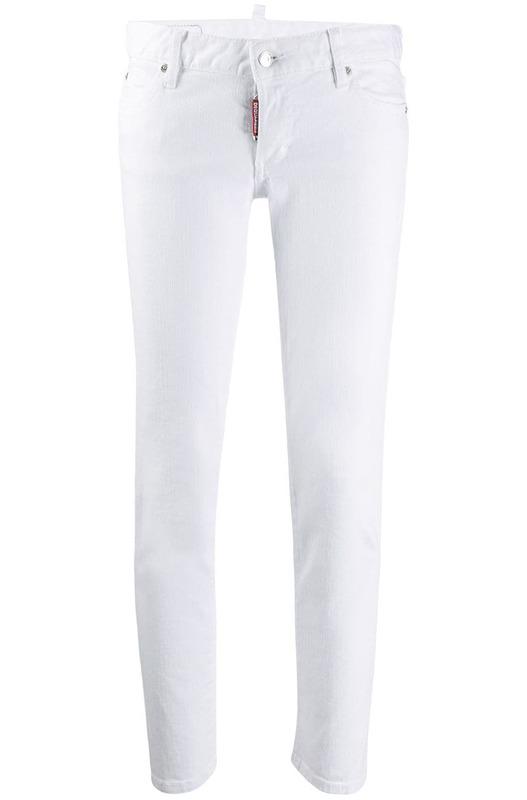 Белые укороченные джинсы слим Dsquared2, фото