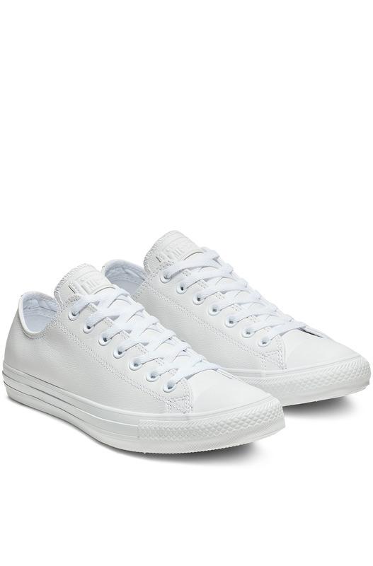 Белые кожаные кеды Chuck Taylor All Star Mono Leather Converse, фото