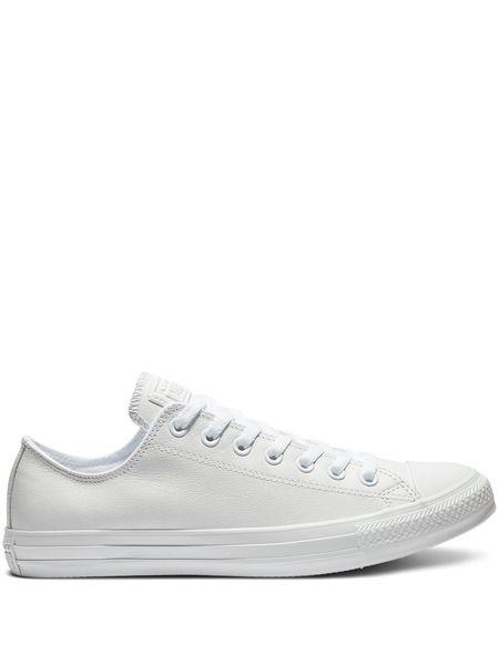 Белые кожаные кеды Chuck Taylor All Star Mono Leather Converse фото