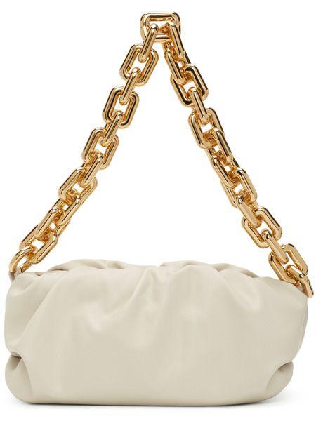 Белый клатч The Chain Pouch Bottega Veneta