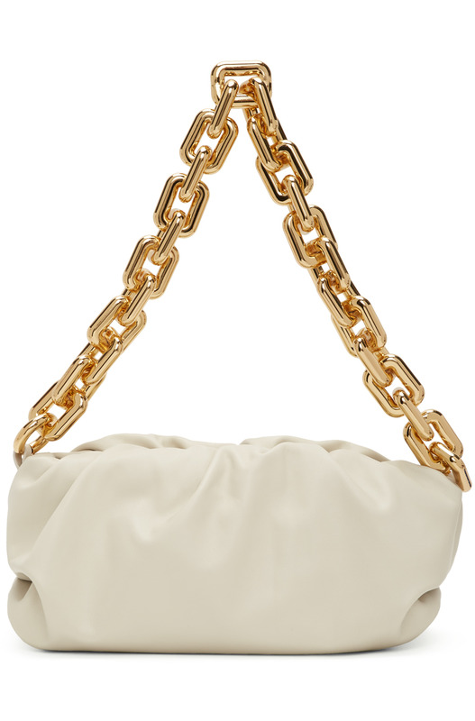 Белый клатч The Chain Pouch Bottega Veneta