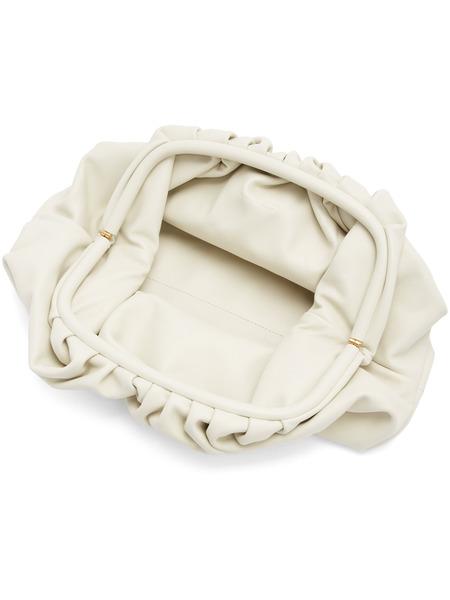 Белый большой клатч The Pouch Bottega Veneta, фото