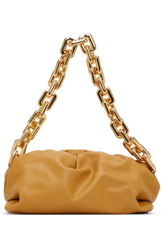 Желтый клатч через плечо Bottega Veneta The Chain Bottega Veneta, фото